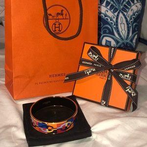 """Hermes Jewelry - Hermès """"Optique Chaine d'Ancre"""" Enamel Bracelet"""